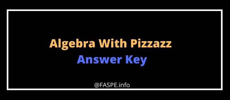 Algebra With Pizzazz Answer Key