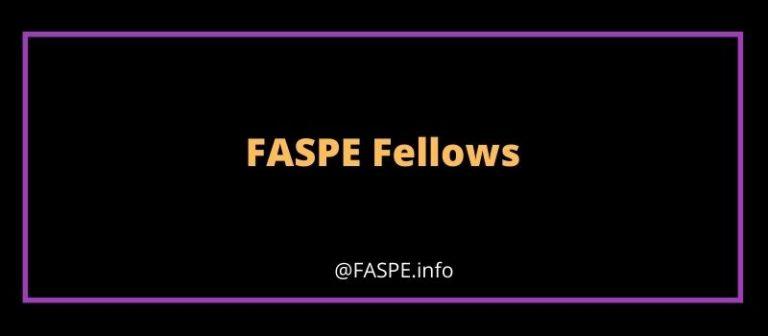 FASPE Fellows