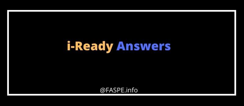 about i Ready Answers key