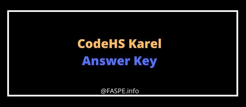 CodeHS Karel Answers Key