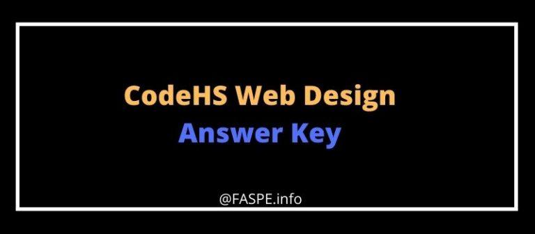 CodeHS Web Design Answers Key