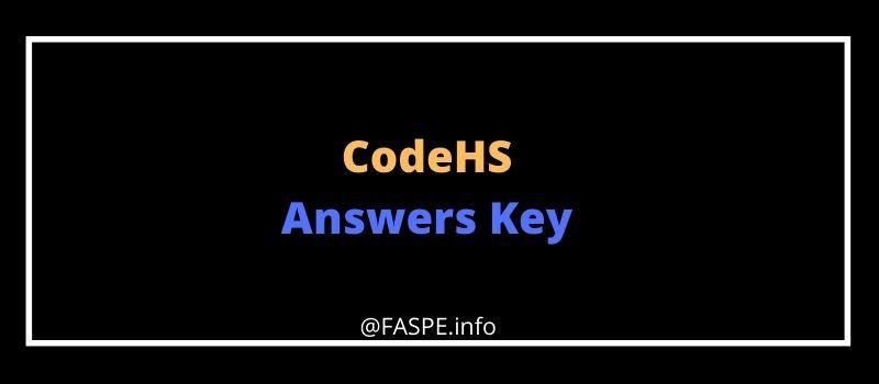 codehs answers key