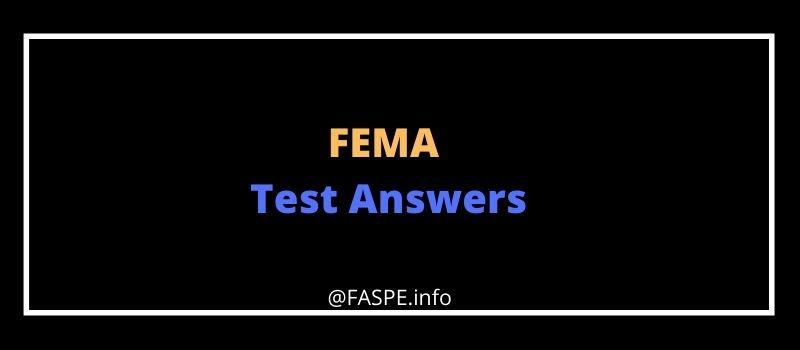 fema test answers