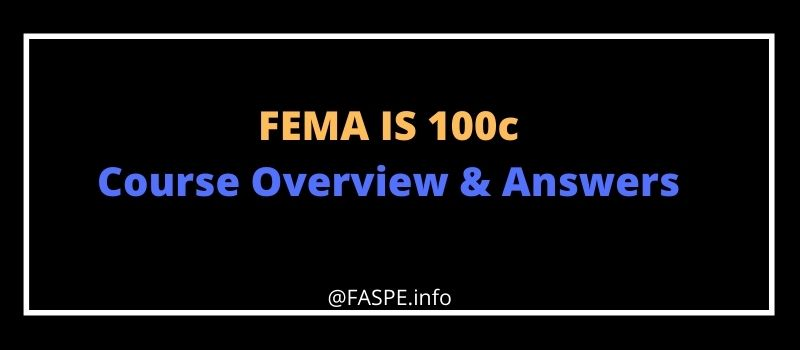 FEMA IS 100c answers