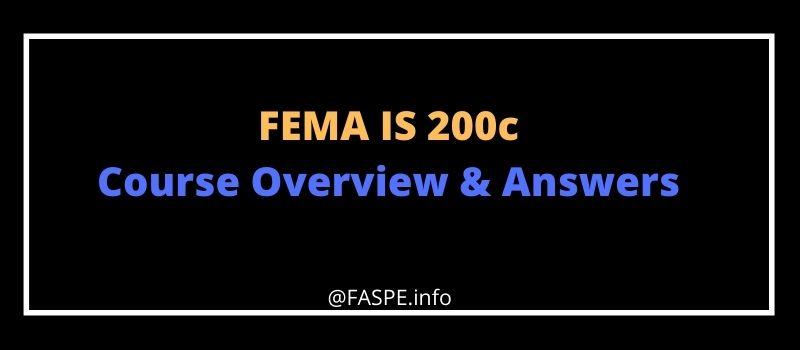FEMA IS 200c answers