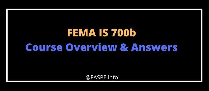 FEMA IS 700b answers