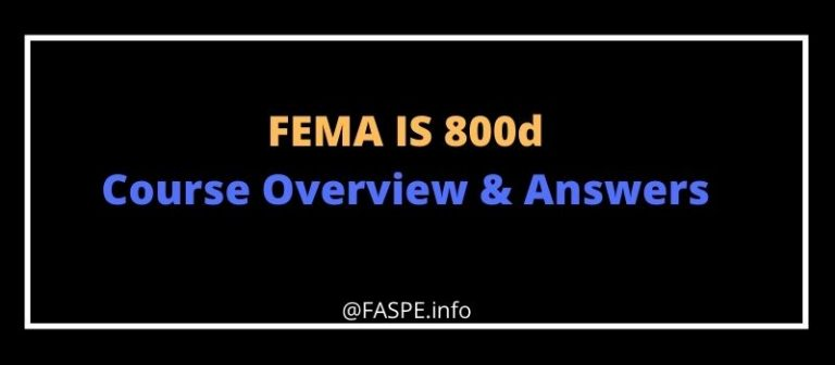 FEMA IS 800d answers