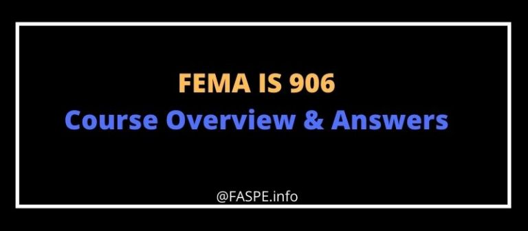 FEMA IS 906 answers