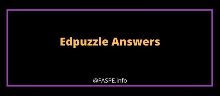 edpuzzle answers
